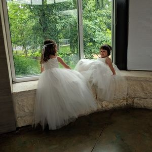 Tulle and Lace Flower girl Dress 6t